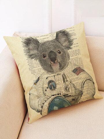Creative Human Head Animal Body Cartoon Pillowcase