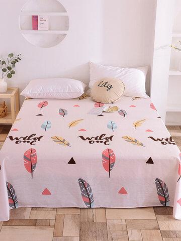 Kleine frische reine Baumwolle Blätter drucken Schlafzimmer Einzelblätter