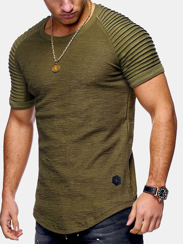 Summer Breathable Solid Color Casual T Shirt