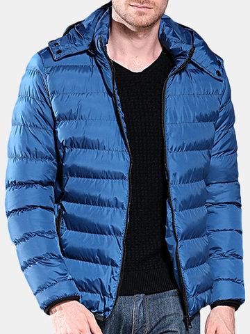 Men's Casual Soft Slim Fit Hooded Down Coat
