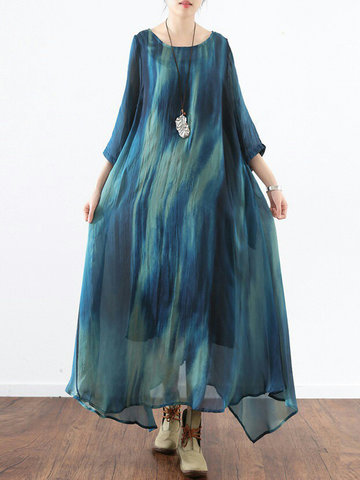 Women Gradient Maxi Dresses