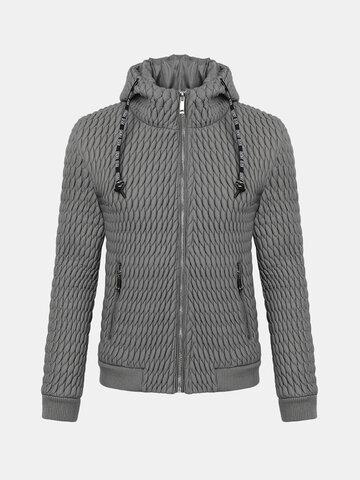 Mens Winter Stand Collar Fold Coats
