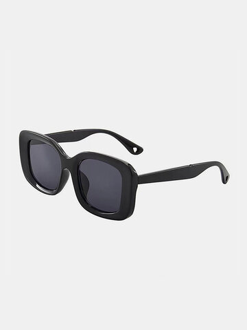 Unisex Wide-sided Square Frame Sunglasses