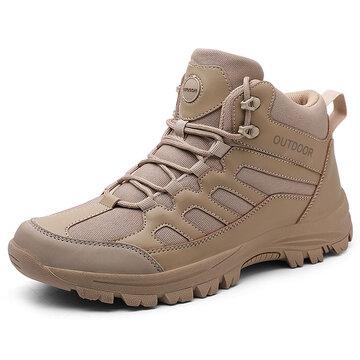 Men Outdoor Slip Resistant Casual Hiking Boots