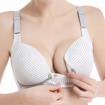 Button Fly Maternity Nursing Bras