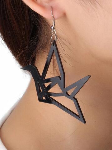 Acrylic Paper Crane Earrings