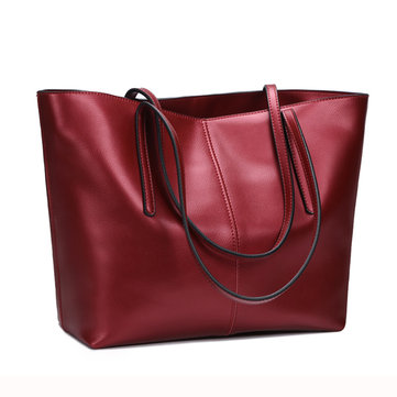 Women Geunine Leather Handbag Retro Shoulder Bag