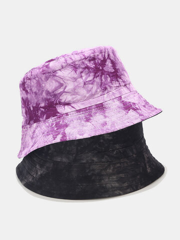 Tie-dye Ink Painting Pattern Fisherman Hat Double-sided