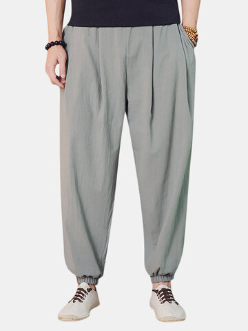 Thin Linen Breathable Harem Pants