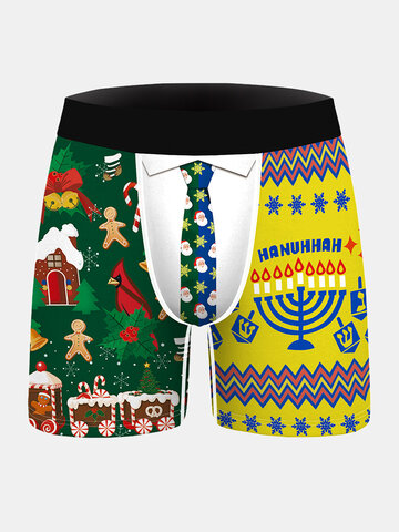 Christmas Printed Comfortable Boxer Briefs