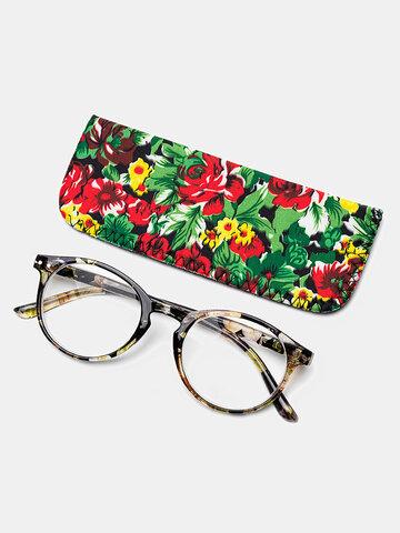 布バッグ付き4色ラウンドフレーム老眼鏡