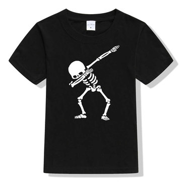 Skull Print Kids T-Shirt For 1-15Years
