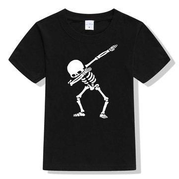 Cráneo camiseta de impresión para niños de 1-15 años