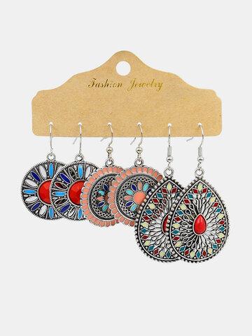 Hollow Sunflower Earrings Set