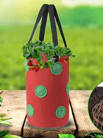 Sacs de planteur de fraises de pomme de terre pour la culture de pommes de terre jardin vertical extérieur suspendu ouvert de plantation de légumes