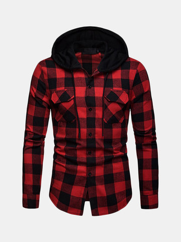 Casual Plaid Hoodies