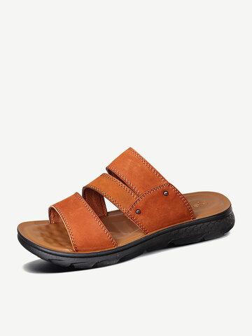 Menico Men Open Toe Comfy House Slippers