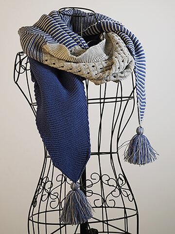 Graublau Lässig Knitted Women's Scarves & Shawls