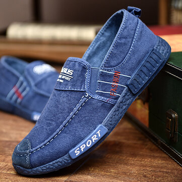 Men Washed Canvas Comfy Casual Shoes