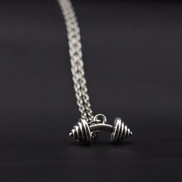 Dumbbells Charm Men's Necklaces
