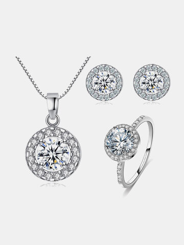 3 Pcs Necklace Earrings Ring Set