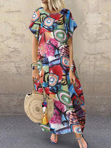 newchic / Graffiti Printed Bohemian Dress