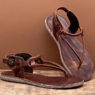 Buckle Casual Flat Sandals