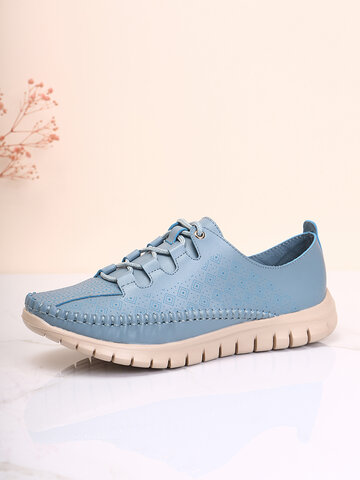 Casual Argyle Pattern Stitching Driving Shoes