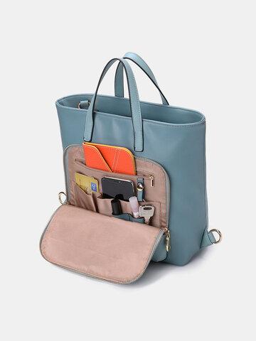 Women Multi-carry Backpack Patchwork Crossbody Bag Satchel