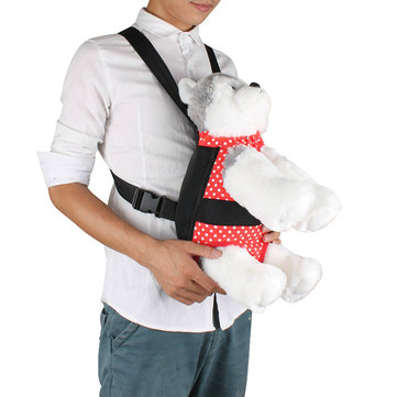 Pet Chest Bag Go Out Portable Dog Red and Black Polka-dot Print Pet Backpack Shoulder Bag