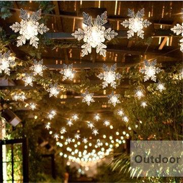 Decorazione domestica del partito di cerimonia nuziale di Natale della luce della finestra della tenda della stringa del fiocco di neve del LED 20 LED