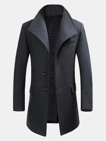 Trench -coat Hiver Style Gentilhomme en Laine