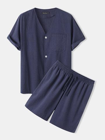 Vêtements d'intérieur 100% coton de couleur unie