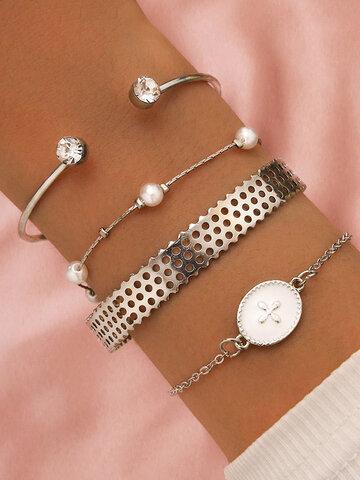 Rhinestone Adjustable Multi-layer Bracelet