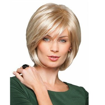 Parrucca Charming Parrucca Capelli Parrucca Straight Side Bang Fluffy Capless Vergine Remy Mono Top
