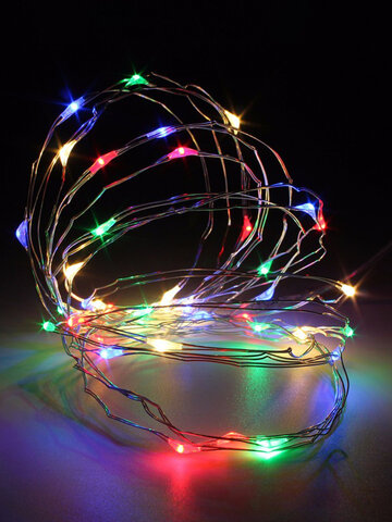 3M 4.5V 30 LED Battery Operated Silver Wire Mini Fairy String Light Multi-Color  Xmas Party Decor