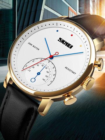 4 Colors Genuine Leather Alloy Quartz Watch