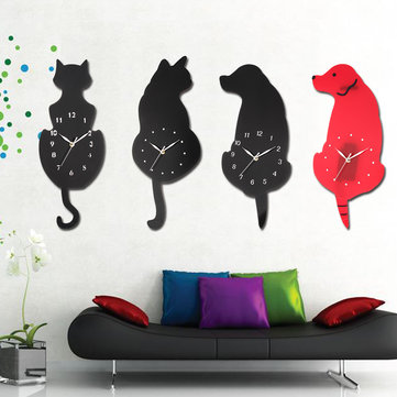 Ticking Animal Shaped Picture Wall Clock