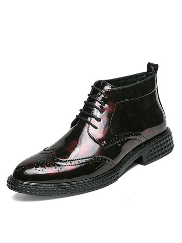 Men Brogues Artificial Leather Business Shoes