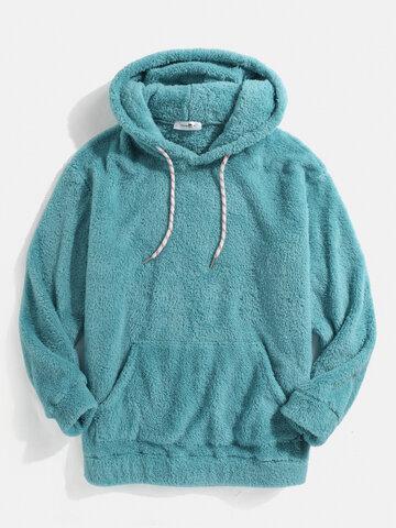 Solid Color Fleece Fluffy Teddy Hoodie