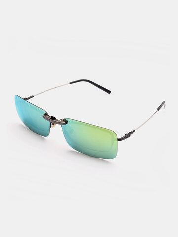 مشبك مستقطب على النظارات الشمسية مشبك عدسة للرؤية الليلية للنظارات ذات الإطار المعدني