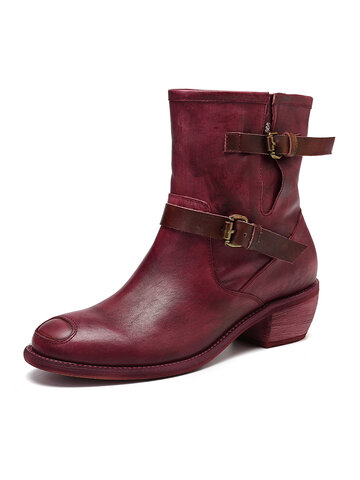 Comfy Coolgirl Leather Boots