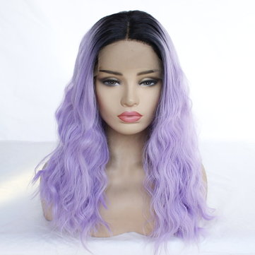 Lavender Purple Long Curly Hair, Inches
