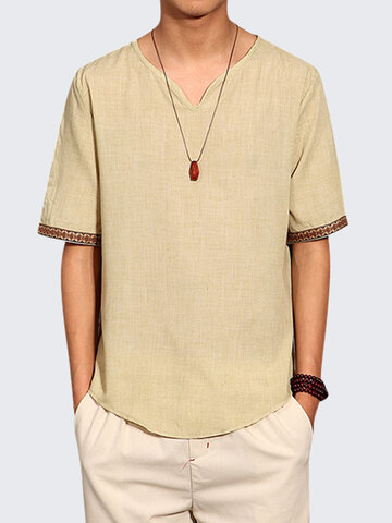 Chinese Style Summer Linen T Shirt