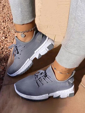 Sports Breathable Knitted Soft Comfy Sneakers
