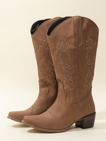 Embroidery Pattern Riding Boots