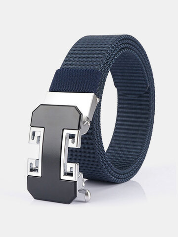 Toothless Automatic Buckle Belt Men Nylon Belt Men's Casual Belt