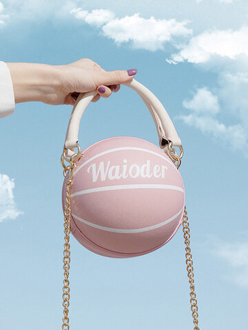 Women Basketball Chains Crossbody Bag