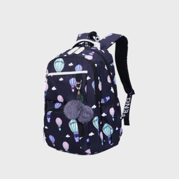 Fluffy Ball Print Anti theft Multifunction Laptop Bag Backpack