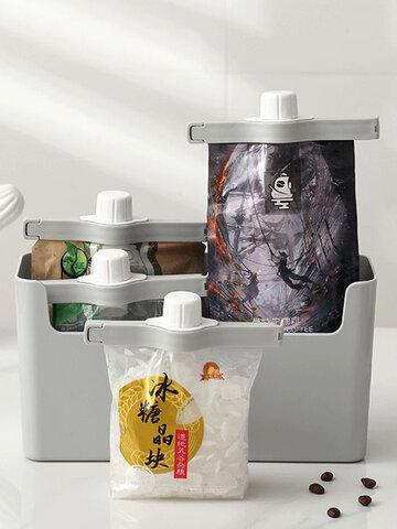 1個排出ノズルシーリングクリップキッチンフードバッグシーリングクリップ食品保存防湿オーガナイザー